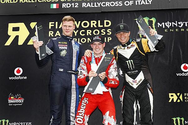 World Rallycross Race report Bakkerud wins Italy RX as Peugeot-Hansen seals 2015 teams' championship