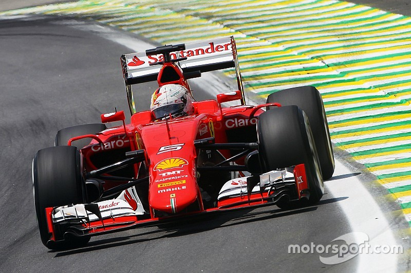 A red second row on the Brazilian GP