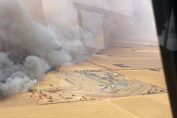 General Mallala circuit spared by wildfire