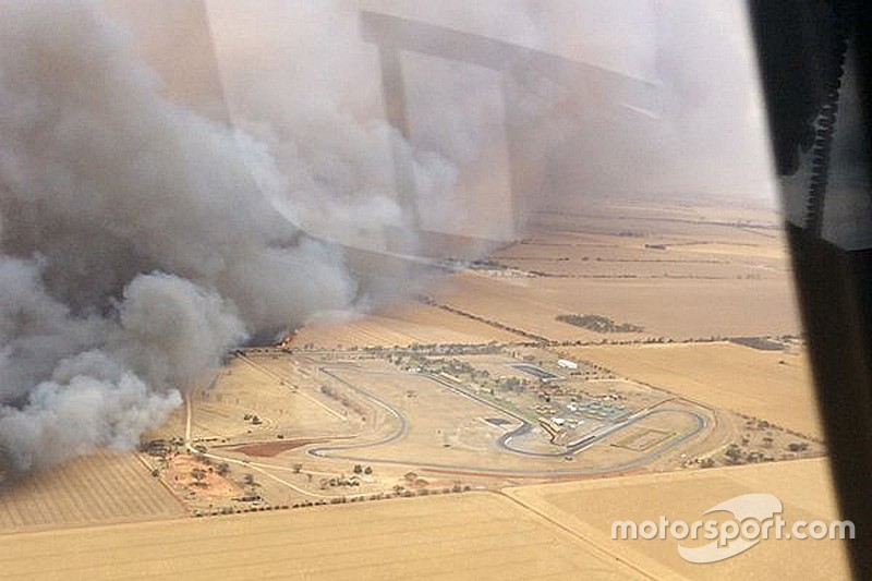 Mallala circuit spared by wildfire