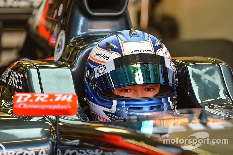 Nyck de Vries met ART GP op tweede GP3-testdag