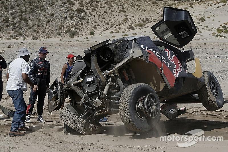 Dakar auto's: Winst voor Al-Attiyah, Loeb ongedeerd na crash