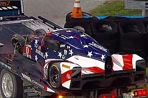 IMSA Breaking news Massive shunt for DeltaWing in fourth hour of Rolex 24