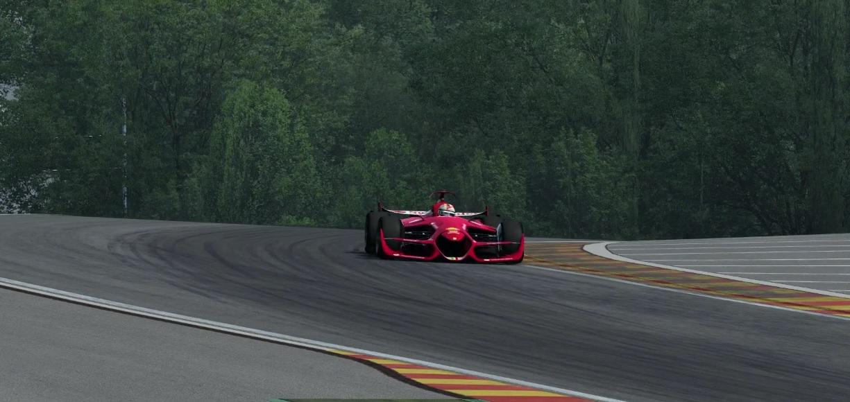 Spa-Francorchamps-ban a jövőbeni F1-es Ferrari: brutális tempó