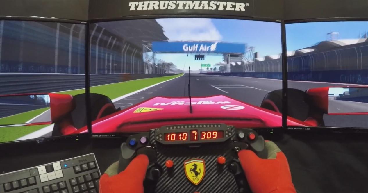 Nagyon menő ferraris virtuális pályabejárás Bahreinben: Jöhet a futam!