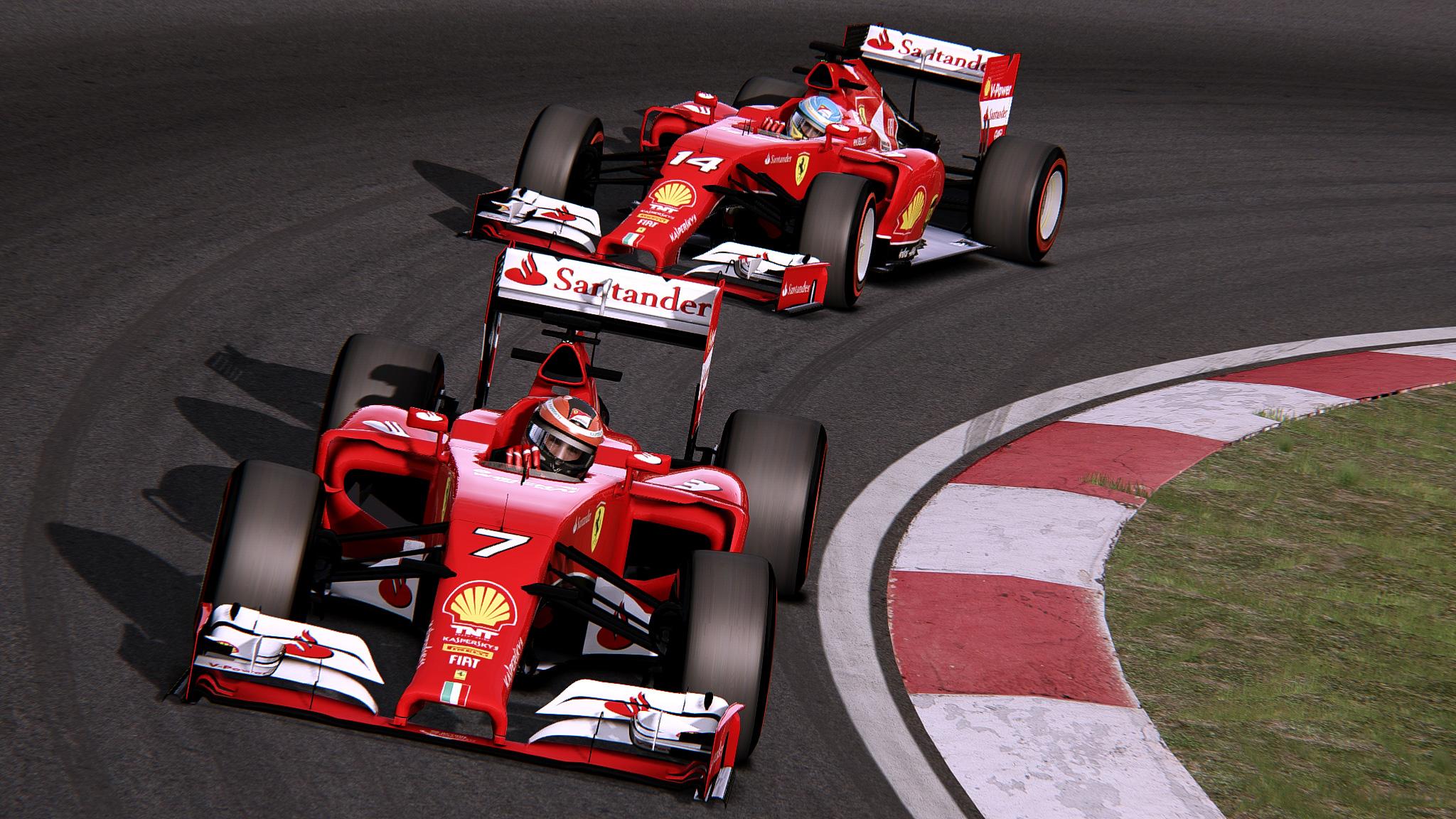 F1 2014 Assetto Corsa: Ferrari Vs. Mercedes a játékban