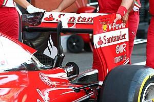 Breve análisis técnico: cambio de alerón trasero de Ferrari para clasificación