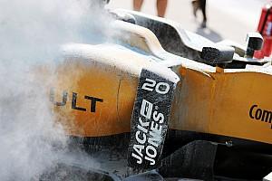 Vazamento no carro de Magnussen provoca fogo durante TL1