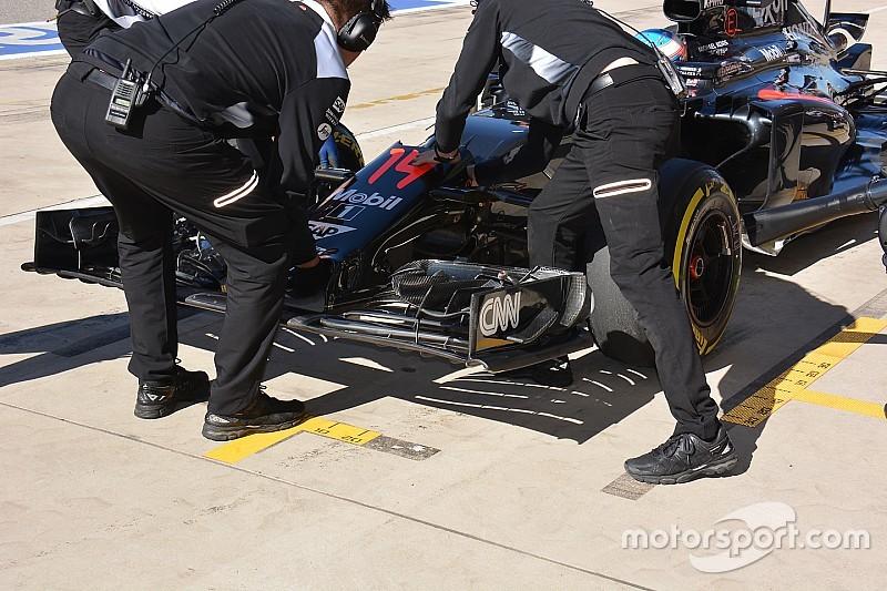 McLaren: l'ala anteriore simula il passaggio dei flussi per il 2017
