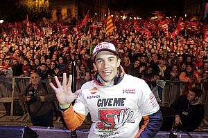 MotoGP Ultime notizie Marc Marquez ha festeggiato il quinto Mondiale nella sua Cervera
