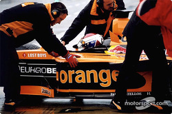 Jos Verstappen in the pits