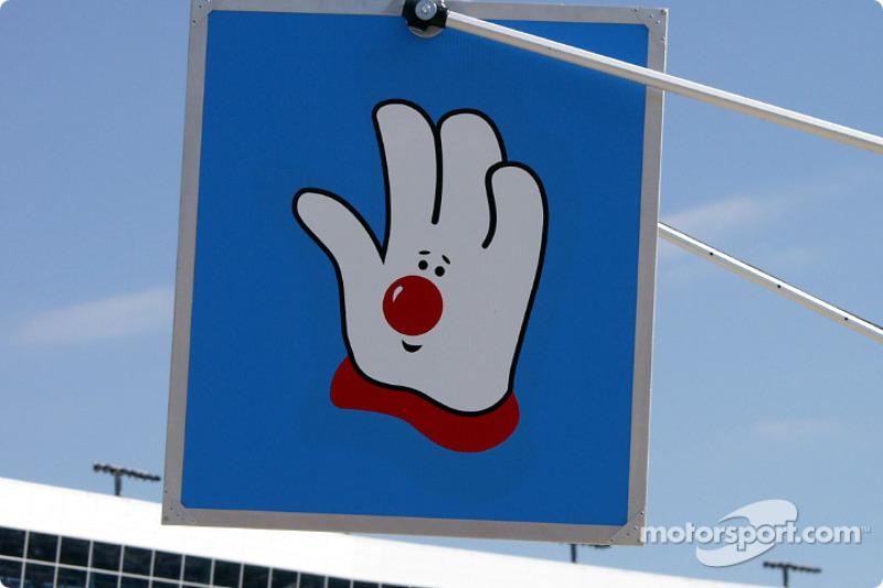 John Andretti pit board