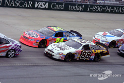 Warm up lap: Dale Jarrett and Jeff Gordon