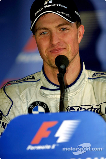 Race winner Ralf Schumacher at the press conference