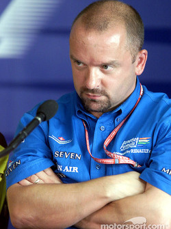 Benetton technical director Mike Gascoyne