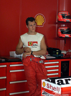 The muscle man: Michael Schumacher