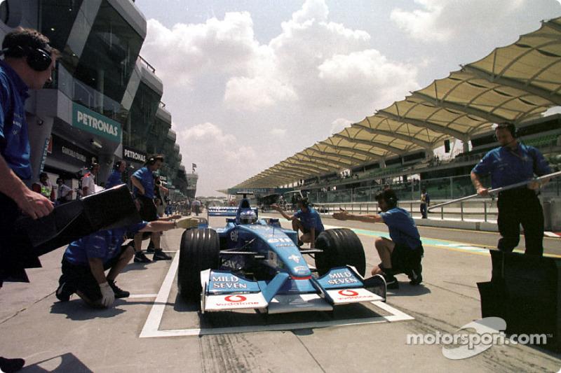Pistop practice for Team Benetton