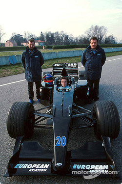 Gian Carlo Minardi (left) in his F1 days