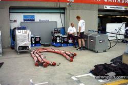 Benetton pit area