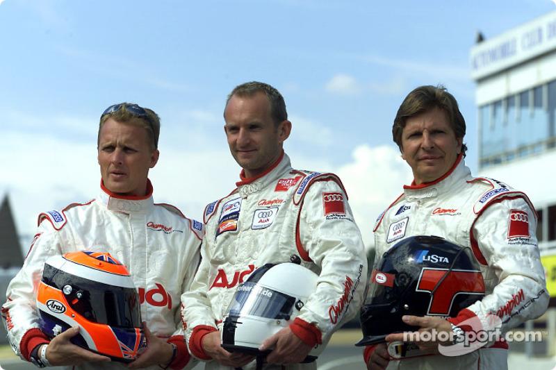 Champion Racing drivers Johnny Herbert, Ralf Kelleners and Didier Theys