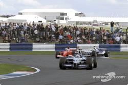 Juan Pablo Montoya, Rubens Barrichello and Ralf Schumacher