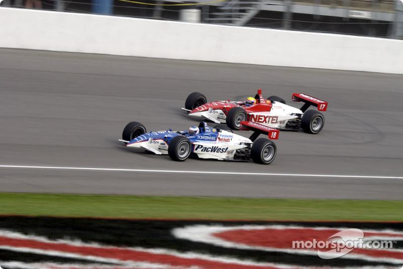 Scott Dixon and Mauricio Gugelmin
