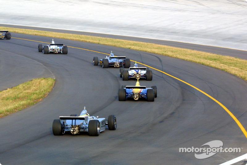 Race field heading onto track