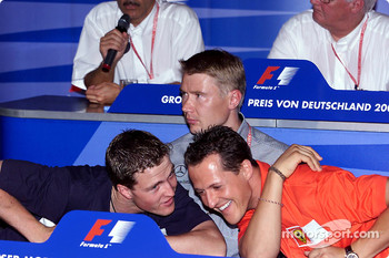 FIA Thursday press conference: Ralf Schumacher, Michael Schumacher and Mika Hakkinen