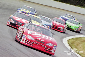Dale Earnhardt Jr. leading the field