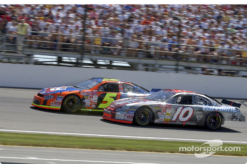 Johnny Benson and Terry Labonte