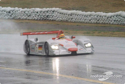 Biela battling through pouring rain