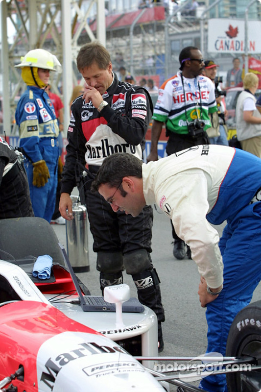 Team Penske getting ready for the race