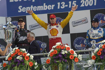 The podium: Max Papis, Kenny Brack and Patrick Carpentier