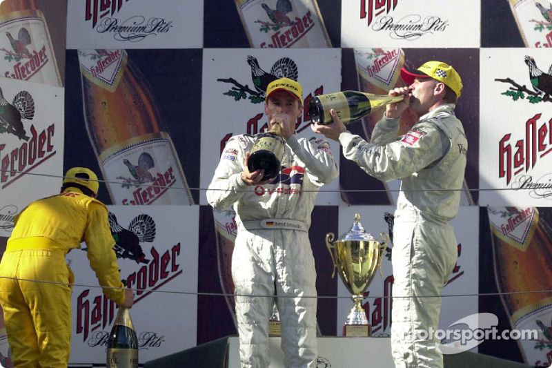 The podium: Laurent Aiello, Bernd Schneider and Uwe Alzen