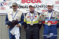 Race 1, C Sports Racer podium: Tim Dunn, Ben Beasley and Wally Butler