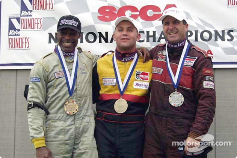 Race 3, Formula 500 podium: National Champion Elivan Goulart, 2nd Jeff Jorgenson and 3rd Calvin Stewart