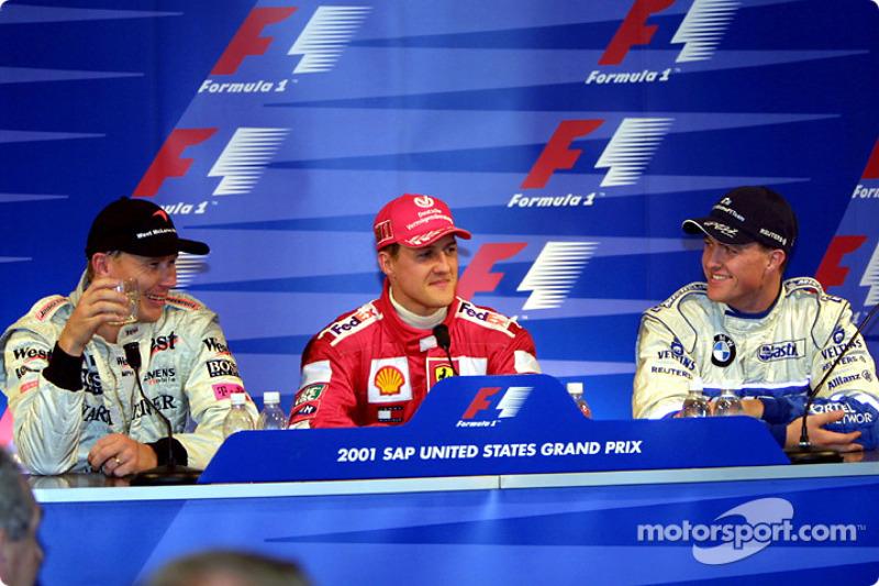 Press conference: Mika Hakkinen, Michael Schumacher and Ralf Schumacher