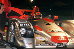 Emanuele Pirro in the Infineon Audi R8 #2