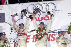 The podium: Emanuele Pirro and Frank Biela
