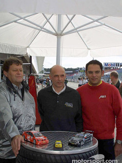 Norbert Haug, Volker Strycek and Christian Abt