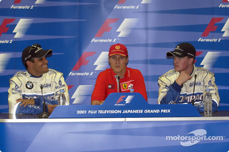 Press conference: Juan Pablo Montoya, Michael Schumacher and Ralf Schumacher
