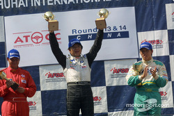 Paul Chan on podium