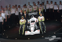 Jacques Villeneuve and Olivier Panis with Team Bar