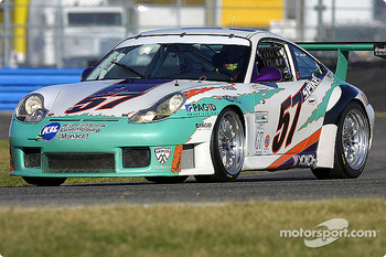 The #57 Seikel Motorsport Porsche was the fastest GT car at Daytona on Saturday