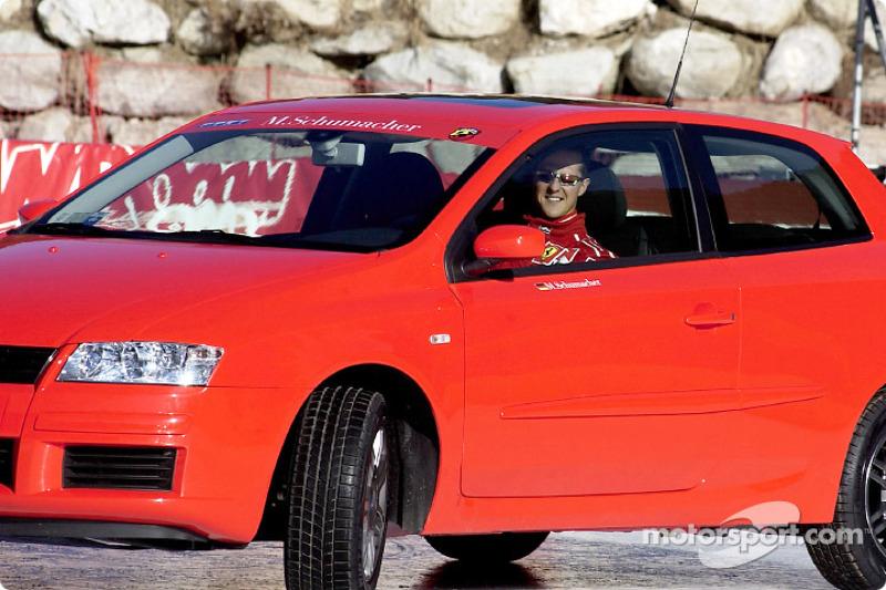 Michael Schumacher in the Fiat Stilo