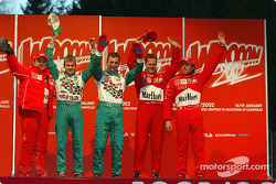 Rubens Barrichello, Marko Asmer, Davide Fore, Michael Schumacher and Luca Badoer