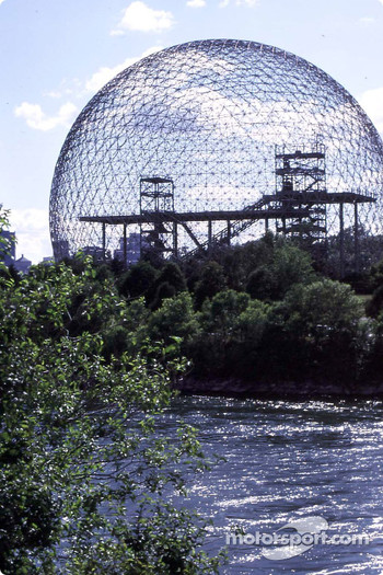 Buckminster Fuller's geodesic dome on Ste-Hlne Island