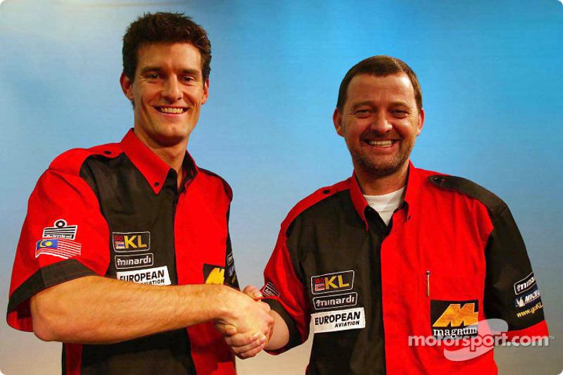 Mark Webber and Paul Stoddart
