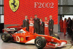 Paolo Martinelli, Michael Schumacher, Ross Brawn, Jean Todt, Rubesn Barrichello and Rory Byrne