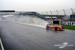 Heinz-Harald Frentzen under the rain